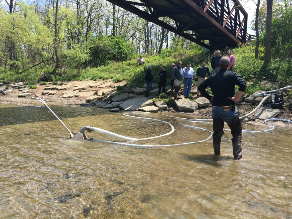 Sand Wand Collector Sediment Removal Streamside River Restoration